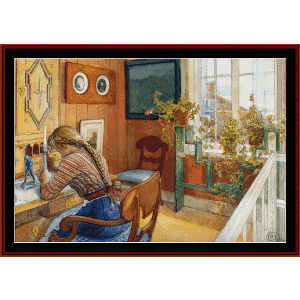 Correspondence - Larsson fine art cross stitch pattern by Cross Stitch Collectibles | Crafting | Cross-Stitch | Wall Hangings
