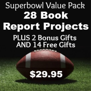 superbowl sunday book report value pack: 28 book report projects + 16 free gifts