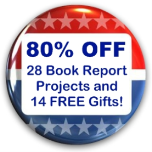 superbowl sunday value pack: 28 book report projects + 16 free gifts