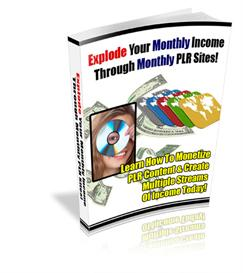 Explode Your Monthly Income Through Monthly PLR Sites | eBooks | Business and Money