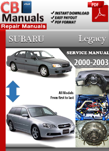 subaru legacy 2000 2003 shop manual technical repair manuals. Black Bedroom Furniture Sets. Home Design Ideas