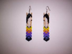 Vertical Brick Stitch Horse Delica Seed Beading Earring Pattern | Other Files | Arts and Crafts
