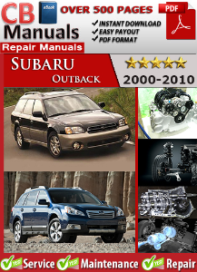 Subaru Outback 2000-2010 Service Repair Manual | eBooks | Automotive