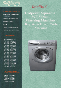 Service & Repair manual for Hotpoint WF washing machines | Documents and Forms | Manuals