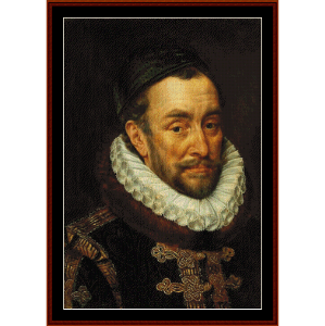Willem van Oranje - Adriaen Thomasz Key cross stitch pattern by Cross Stitch Collectibles | Crafting | Cross-Stitch | Wall Hangings