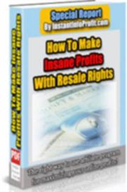 How To Make Insane Profits With Resale Rights | eBooks | Internet
