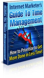 internet marketers guide to time management - with master resale right