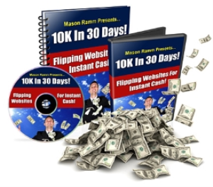 10k in 30 days! flipping websites for instant cash video course with mmr