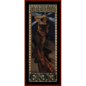 Morning Star - Mucha cross stitch pattern by Cross Stitch Collectibles | Crafting | Cross-Stitch | Wall Hangings