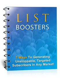 List Boosters- With Master Resale Rights | Audio Books | Business and Money