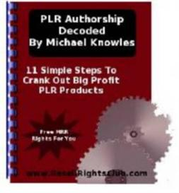 PLR Authorship Decoded | eBooks | Business and Money