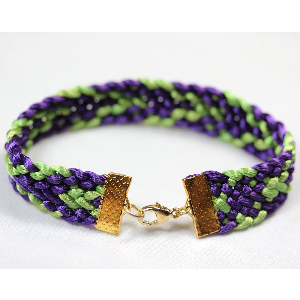Kumihimo Flat Braid Bracelet Pattern | Crafting | Jewelry