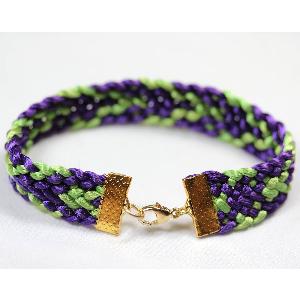kumihimo flat braid bracelet pattern