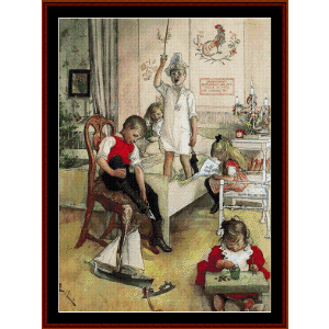 Christmas Morning - Larsson cross stitch pattern by Cross Stitch Collectibles | Crafting | Cross-Stitch | Wall Hangings