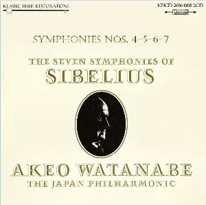 sibelius: symphonies nos. 4-5-6-7 - japan philharmonic orchestra/akeo watanabe