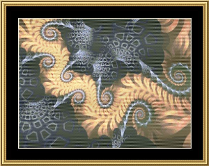 Fractal Unlimited 17 | Crafting | Cross-Stitch | Wall Hangings