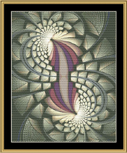 Fractal Unlimited 24 | Crafting | Cross-Stitch | Wall Hangings
