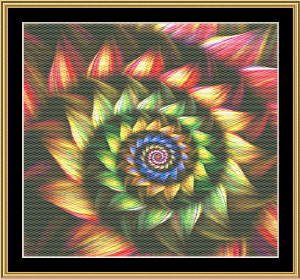 Fractal Unlimited 25   Crafting   Cross-Stitch   Wall Hangings