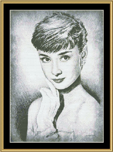 Audrey Hepburn Star | Crafting | Cross-Stitch | Other