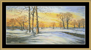 Sun Set & Snow | Crafting | Cross-Stitch | Wall Hangings
