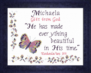 Name Blessings - Michaela | Crafting | Cross-Stitch | Other