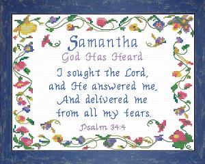 Name Blessings - Samantha 2 | Crafting | Cross-Stitch | Other