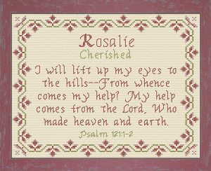 Name Blessings - Rosalie | Crafting | Cross-Stitch | Religious