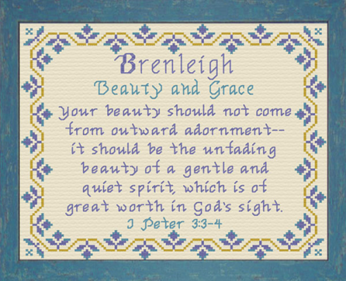 First Additional product image for - Name Blessings - Brenleigh