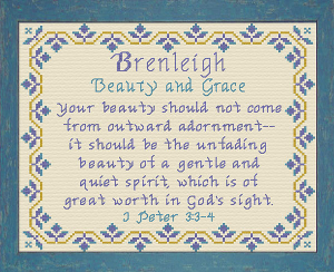 Name Blessings - Brenleigh | Crafting | Cross-Stitch | Religious