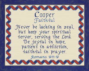 Name Blessings - Cooper | Crafting | Cross-Stitch | Religious