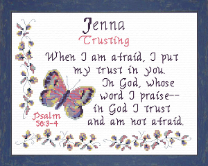 Name Blessings - Jenna | Crafting | Cross-Stitch | Religious