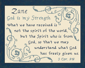 Name Blessings - Zane 2 | Crafting | Cross-Stitch | Religious
