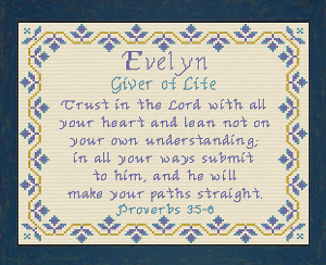 Name Blessings - Evelyn 2 | Crafting | Cross-Stitch | Other