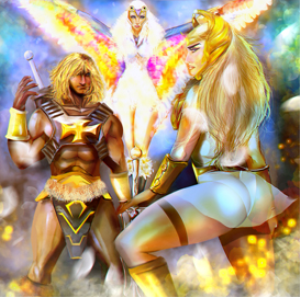 he-man  she-ra  and sorceress poster
