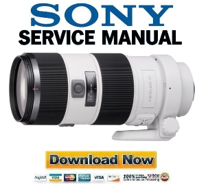 sony sal70200g 70 200mm f2.8 g lens service manual repair guide