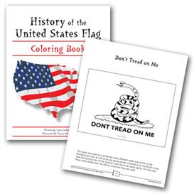 grades 3-6 history of the united states flag coloring book