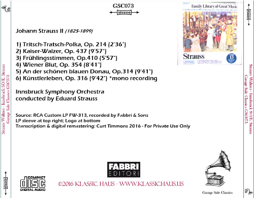 First Additional product image for - Johann Strauss II: Waltzes - Innsbruck Symphony Orchestra/Eduard Strauss