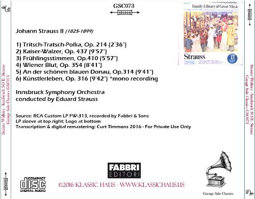 First Additional product image for - Johann Strauss II: Waltzes - Innsbruck Symphony Orchestra/Eduard Strauss