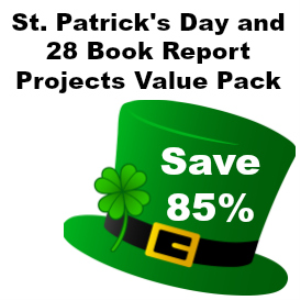85% off st. patrick's day and 28 book report project value pack