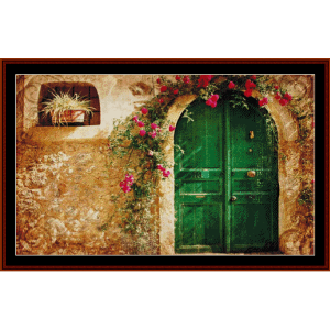 Tuscan Cottage cross stitch pattern by Cross Stitch Collectibles | Crafting | Cross-Stitch | Wall Hangings