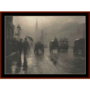 Rainy Waterloo Place, London cross stitch pattern by Cross Stitch Collectibles | Crafting | Cross-Stitch | Wall Hangings