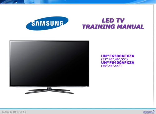 First Additional product image for - Samsung UN40F6300 UN40F6300AF UN40F6300AFXZA Smart LED TV Service Manual