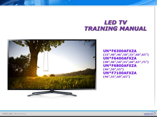 First Additional product image for - Samsung UN55F7100 UN55F7100AF UN55F7100AFXZA 3D Ultra Slim Smart LED HDTV Service Manual