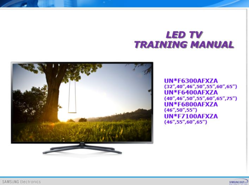 First Additional product image for - Samsung UN65F7100 UN65F7100AF UN65F7100AFXZA 3D Ultra Slim Smart LED HDTV Service Manual