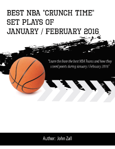 NBA Crunch Time Playbook January / February 2016 | eBooks | Sports
