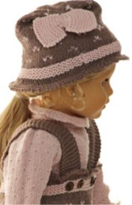 First Additional product image for - DollKnittingPattern 0144D GURINE - Sweater, Pants, Hat, and Socks-(English)