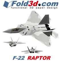 Fold3D F22 Raptor | eBooks | Arts and Crafts