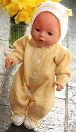 dollknittingpattern - 0021d olivia&oliver - babysuit, 2 hats, socks