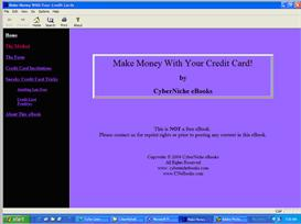 Make Money Using Your Credit Card eBook | eBooks | Business and Money