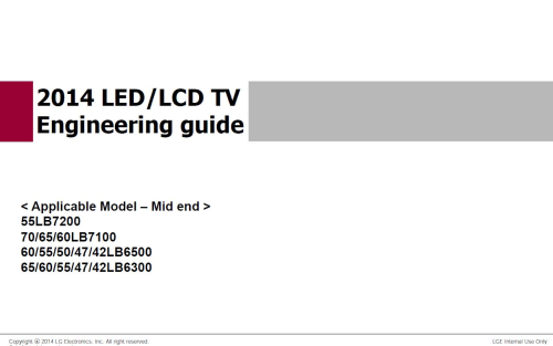 First Additional product image for - LG 60LB7100 UT Service Manual and Technicians Guide